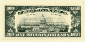 Million Dollar Millenium Note back
