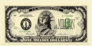 Million Dollar Millenium Note front