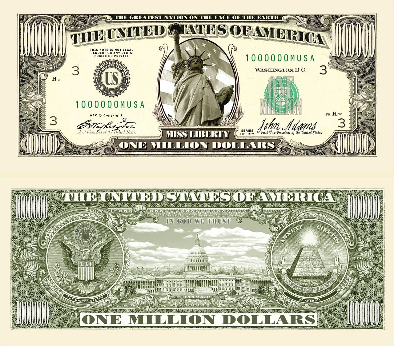 10000 Dollar Bills For Sale - 10 000 million dollar bills